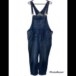 Torrid size 26 blue Jean overalls!